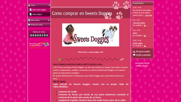Como comprar - www.123miweb.es SweetsDoggies