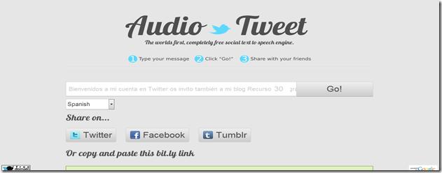 Audio Tweet   Free Social Text to Speech Engine