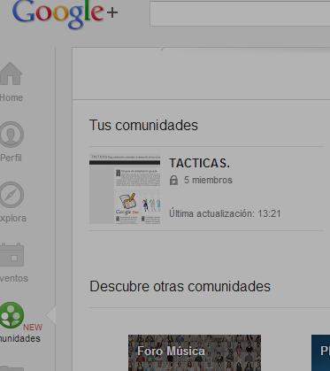 Comunidades   Google 2