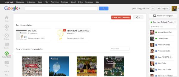 Comunidades   Google