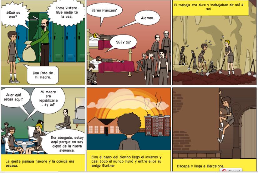 Et.5  Campos de concentración aleman por clase4c   Pixton  Comics